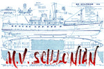 Full size Printed Plans Passenger ferry M.V. SCILLONIAN Scale 1:72 Suitable for radio control