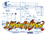 Full Size Printed Plan Control Line Jet Speed SIDEWINDER MK IX high performance contest plane
