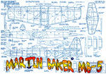 "Full size printed plan  Martin Baker MB-5 Scale 1:20  Wingspan 21""  Power Rubber"