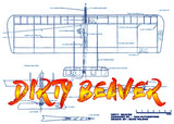 "Full size printed plans and article 1/2 A Combat ""DIRTY BEAVER"" Wingspan 28""  Engine .04"