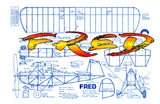 "Full size printed plans vintaage 1982 ""FRED"" unorthodox construction sequences are described"