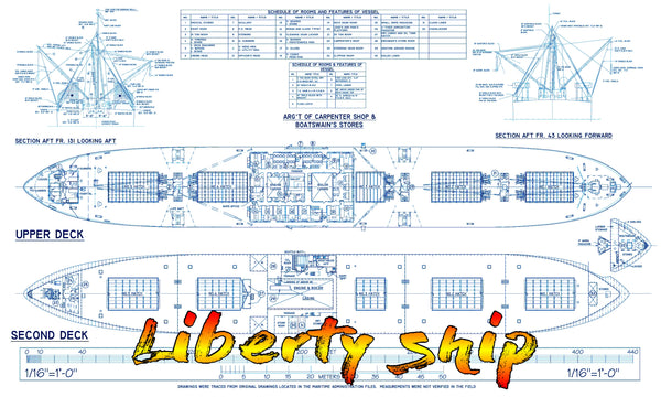 Listing For Full Size Printed Drawings Scale 1 96 Liberty