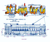 Full size drawings O GAUGE St. Louis Car Co trolley built by the American Car Co