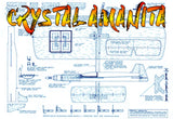 Full Size Printed Plan to build a 1/2 A Control Line Sport Stunt airplane CRYSTAL AMANITA