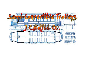 Full size printed Drawings Semi-Convertible Trolleys  J.C.BRILL CO.  A 1943 PLAN