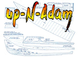 "Full Size Printed Plan Day Cruiser ""Up-N-Adam"" outboard motor suitable for radio control"