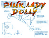 "Full Size Printed Plan Control Line Speed PINK LADY CLASS  'B'  WINGSPAN 26 1/4""   ENGINE .30"