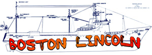 Outlines and waterlines , Hull lines ,sections and details of a freezer factory trawler Boston Lincoln