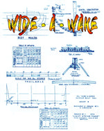 "Full Size Printed Plan Scale 2""= 1foot clinker built boat ""WIDE­ - A­ – WAKE"" Steam Power For Radio Control"