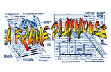 "Printed Plans A FRAME PLAYHOUSE Overall Length 10'  Width 8'  Height 10'  Deck 69"" x 39"""