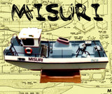 "German inland waterways PUSH TUG SCALE 1:16 26"" MISURI FULL SIZE PRINTED PLANS & ARTICLE FOR RADIO CONTROL"