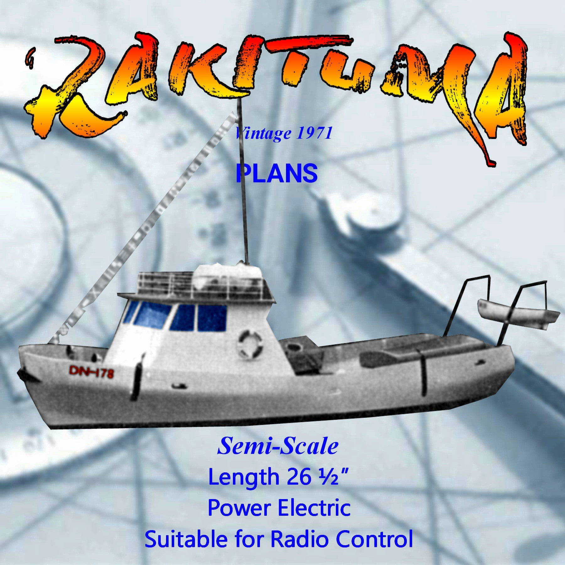 Full Size Printed Plan Semi-Scale26 1/2'New Zealand Fiordland crayfishing vessel suitable for Radio Control