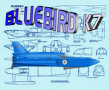 Build Semi-Scale 1:32 Bluebird K7 water speed boat Full size printed Plan & Article