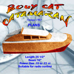 "Full Size Printed Plans 25 1/2"" Catamaran BOUY CAT  suitable for radio control"