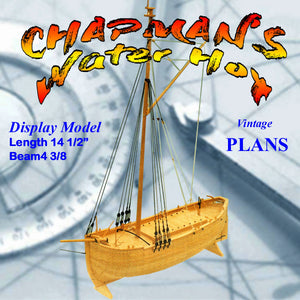 Full Size Printed Plans  Display Model small coasting vessel Chapman's Water Hoy