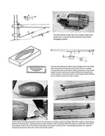 "Build a 34"" Sailboat for beginners Full Size Printed Plan and Building article"