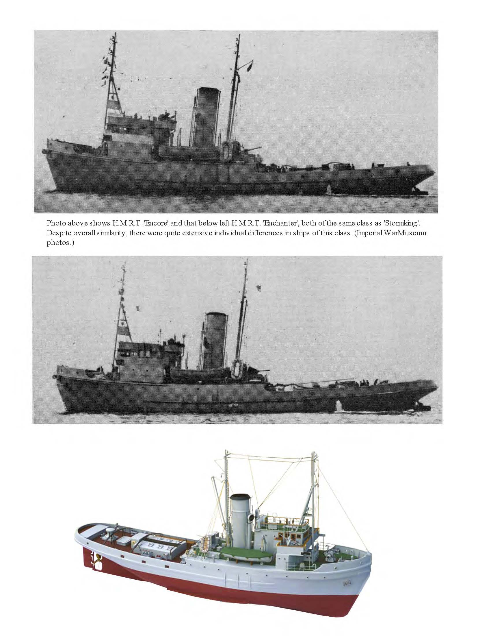 Digital full size plans on Cd Scale 1:48 Envoy class escort and rescue tug, H.M.R.T. STORMKING