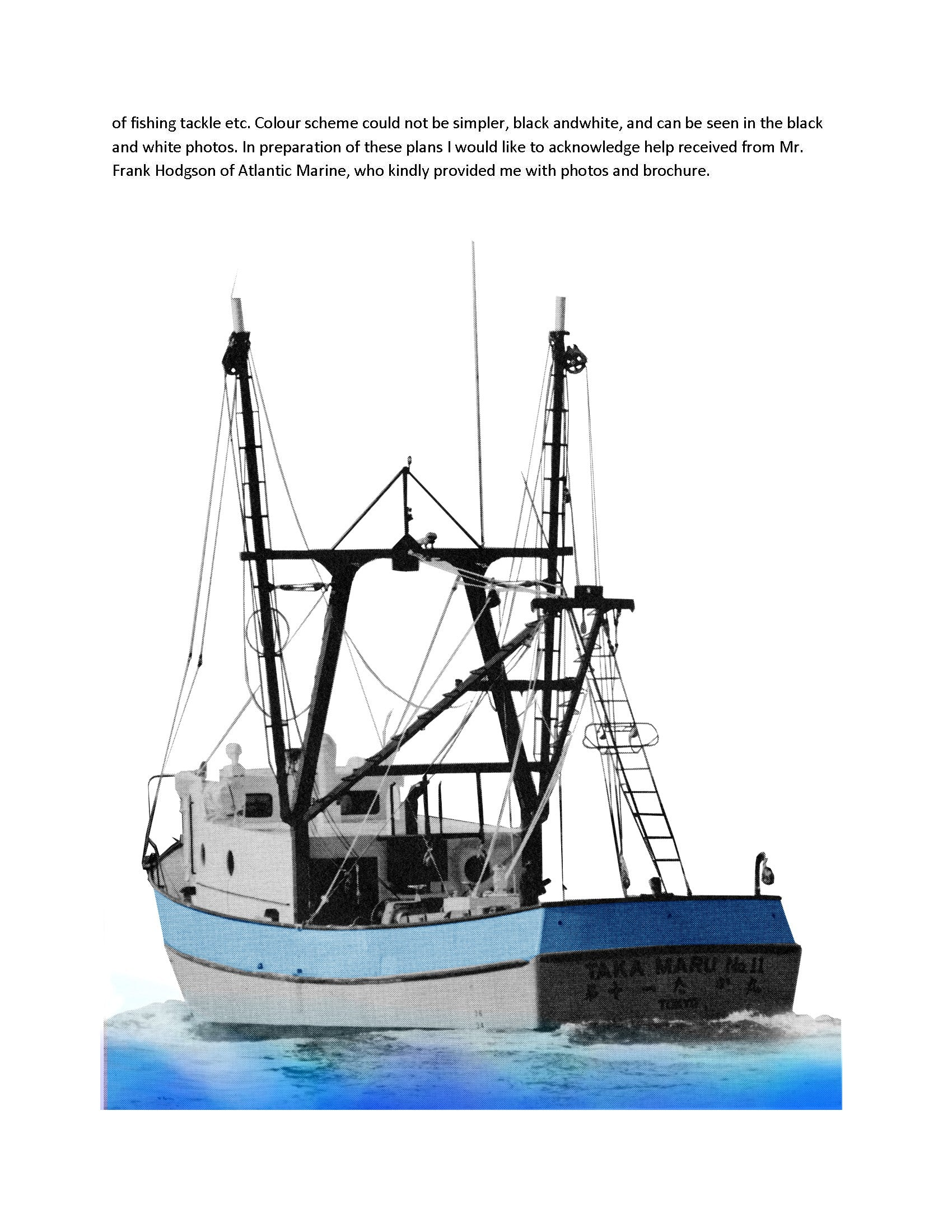Digital full-size plans on Cd scale 1:32 shrimp trawler TAKA MARU suoitable for radio control