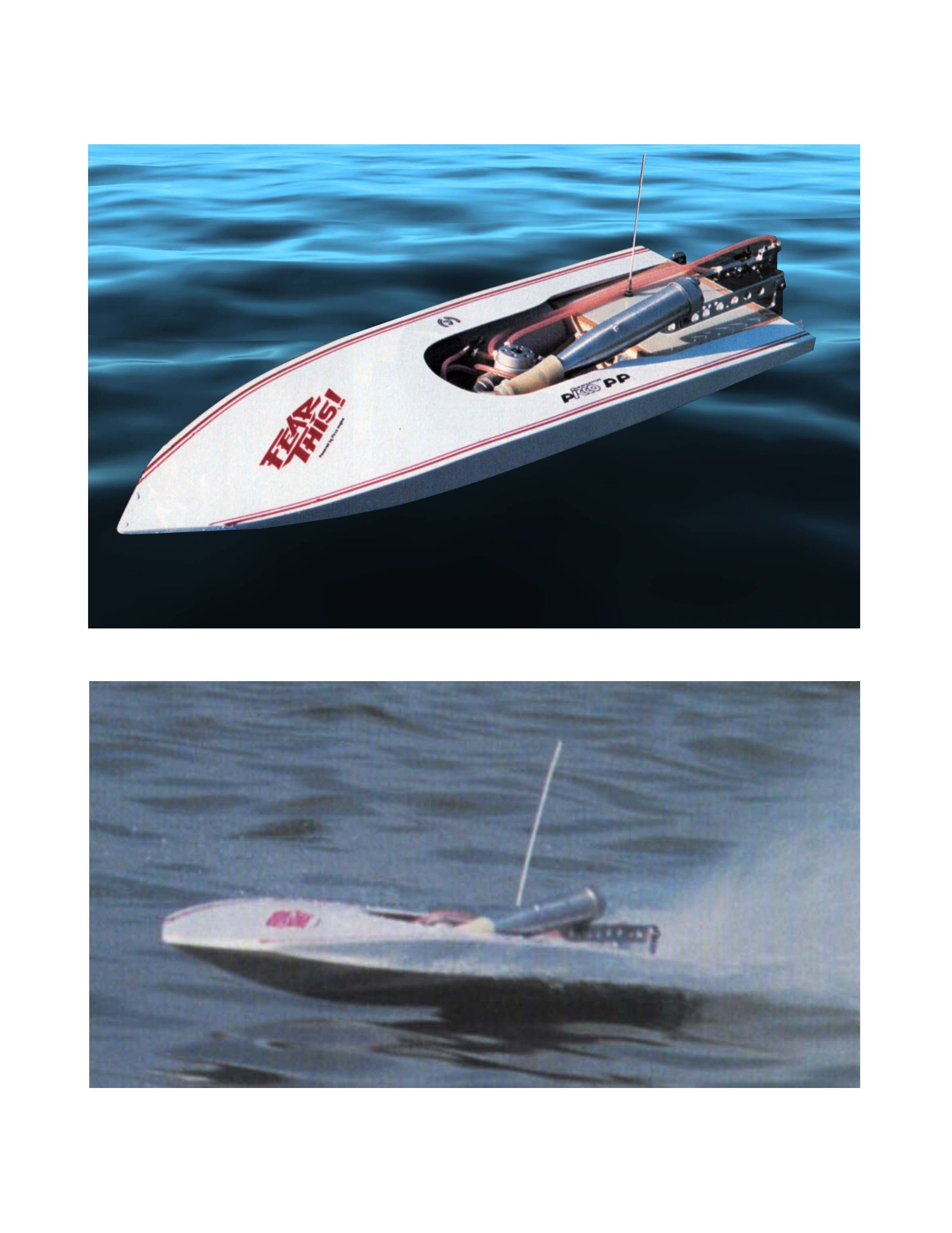 Full Size Printed Plan inboard racing mono hull THE WILD THING for Radio Control