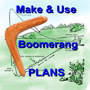 Full Size printed Pattern How to make and throw Boomerang