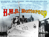Listing is for Scale Drawings H.M.S. Buttercup Corvette, Flower Class - K.193  Scale 1:96
