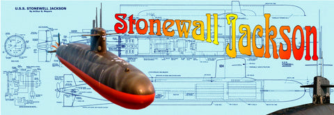 Full Size printed plans & build notes to Build a Semi Scale 1:96 Radio Control submerging Stonewall Jackson Submarine