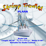 "Full Size Printed Plan Scale 1:12 Suitable for Radio Control ""SHRIMP TRAWLER"""