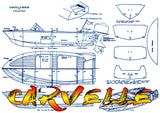Build Two semi scale OUTBOARD SPEEDBOAT  Electric & Gas Full size printed plans
