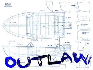 Build a GAS 0R ELECTRIC INBOARD or OUTBOARD R//C Boat Full Size printed Plans