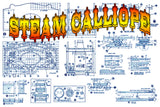 "Full Size Printed Plans  STEAM CALLIOPE SCALE 3/4"" = 1'  LENGTH 12 1/2""   WIDTH 6 1/2""   HEIGHT 9"""