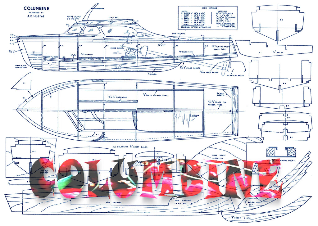Full Size Printed Plans Article To Build Columbine A Simple