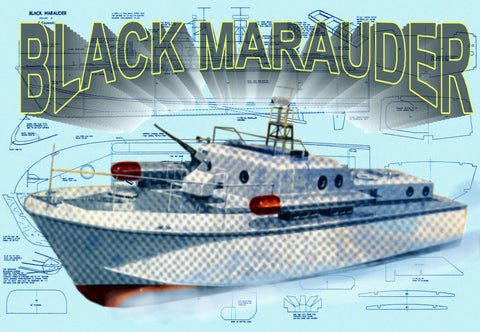 "Build a Black MarauderMTB semi-scale 1:32 38"" for R/C Full size printed plans"