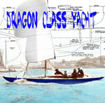 "FULL SIZE PRINTED PLAN and ARTICLE 1:10 SCALE 35"" DRAGON CLASS YACHT 35"" Bluebottle"