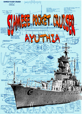 Full Size Printed Plans and Building Article Scale 1:150 Pocket Heavy Cruisers metal-clad model