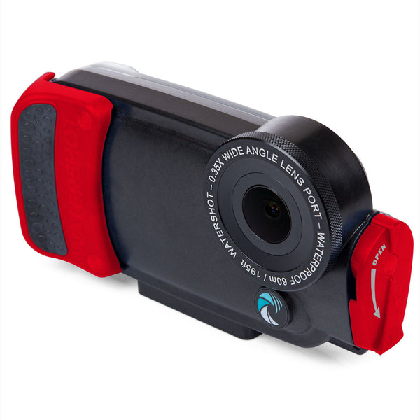 Watershot® PRO Line Housing Kit iPhone® 8 Black/Red Snapper