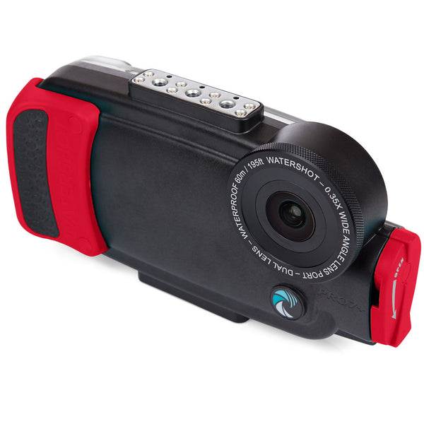 Watershot® PRO Line Housing Kit iPhone® 8 Plus Dual-Lens Black/Red Snapper