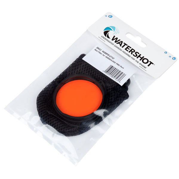 Watershot® PRO Line Red Filter for 0.35X & 0.39X Wide Angle or Standard Lens Ports - In Stock!