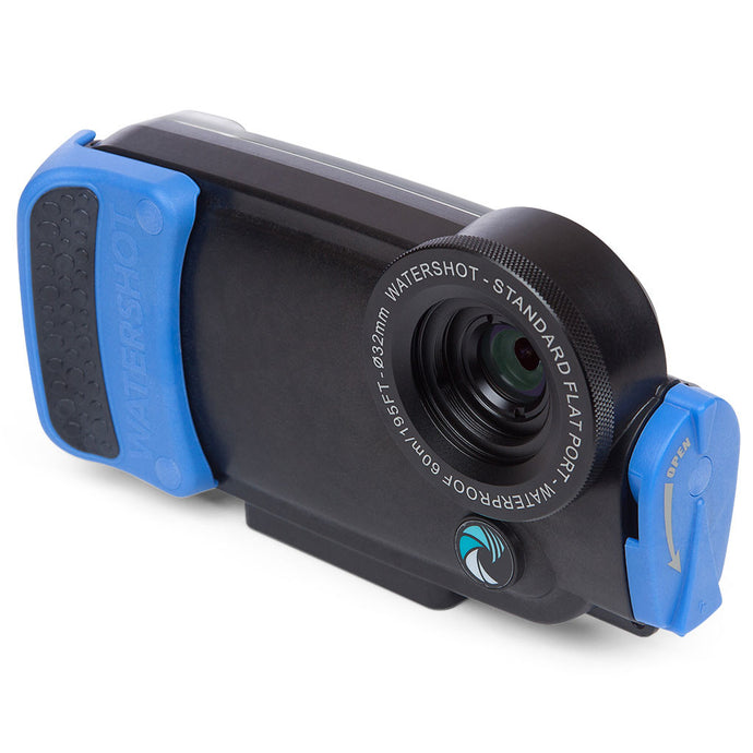 Watershot® PRO Line Housing iPhone® 7 / 8 Black/Snorkel Blue