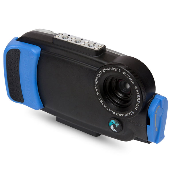 Watershot® PRO Line Housing iPhone® 6(s) Plus - Black/Snorkel Blue