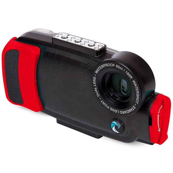 Watershot® PRO Line Housing iPhone® 7 Plus / 8 Plus Dual-Lens Black/Red Snapper