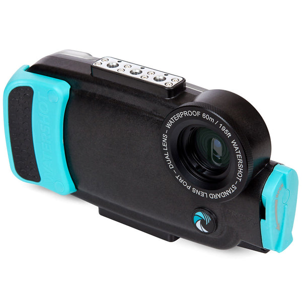 Watershot®PRO Line Housing iPhone®7 Plus Dual-Lens Black/Limpet Shell
