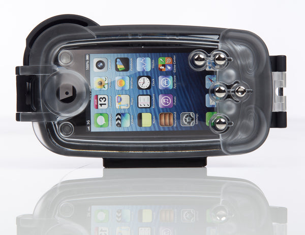 Watershot® PRO Line Housing Kit iPhone® 5/*5c/5s/SE Black/Sunfish
