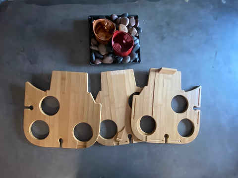 Factory seconds, art project bamboo snack trays