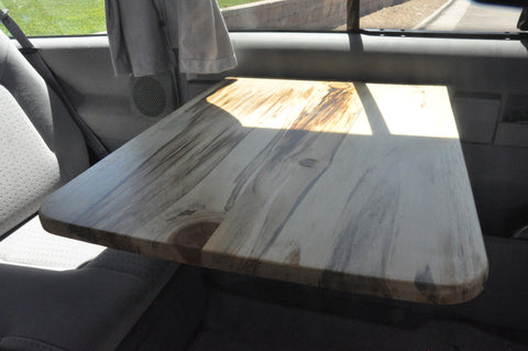 CaveVan real wood replacement tables for Eurovan Weekender.