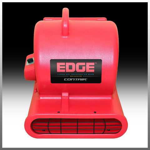 Air Mover - Contair® EDGE 1/3HP GFCI Air Mover Carpet Dryer Blower Floor Fan High CFM Red Color