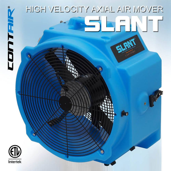 Air Mover - Contair® SLANT 4000 CFM 2.8 AMP Commercial Axial Air Mover Fan With GFCI Blue