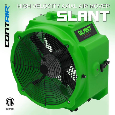 Air Mover - Contair® SLANT 4000 CFM 2.8 AMP Commercial Axial Air Mover Fan With GFCI Green