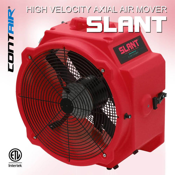 Air Mover - Contair® SLANT 4000 CFM 2.8 AMP Commercial Axial Air Mover Fan With GFCI Red