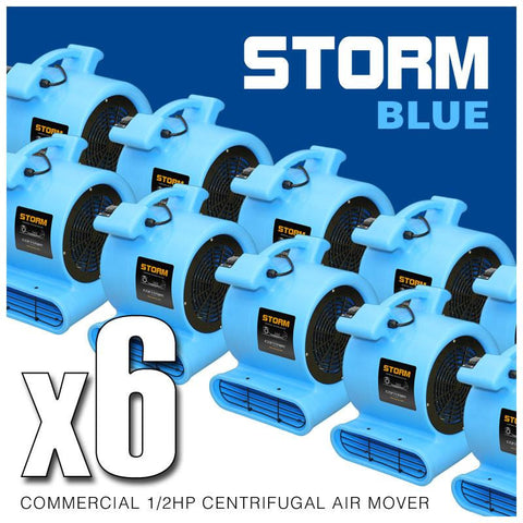 Air Mover - Contair® STORM 1/2HP Air Mover Carpet Dryer Blower Floor Fan High CFM BLUE Color