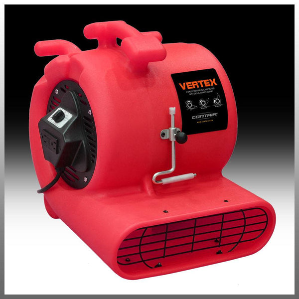 Air Mover - Contair® VERTEX 1/3 GFCI Air Mover Carpet Dryer Blower Floor Fan Powerful RED High CFM